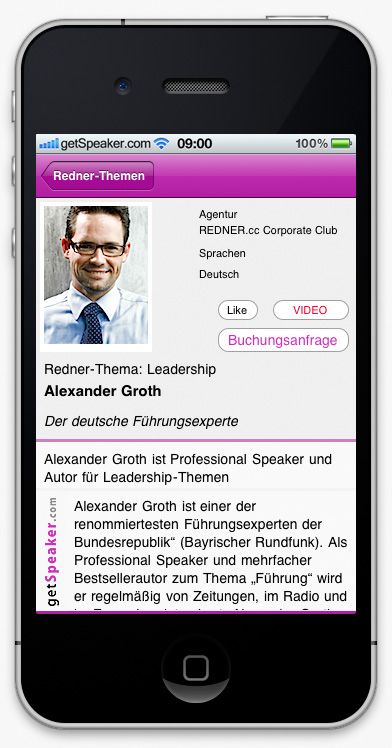 Speaker Leadership Alexander Groth iPhone-App