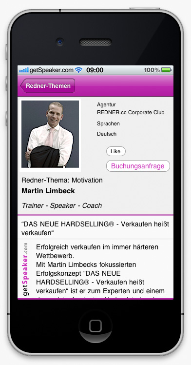 Speaker Motivation Martin Limbeck iPhone-App