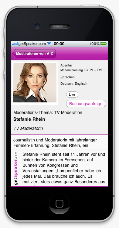 TV Moderatorin Stefanie Rhein iPhone-App