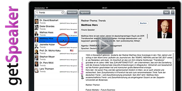 getSpeaker® Video iPad-App - Wie funktioniert die App